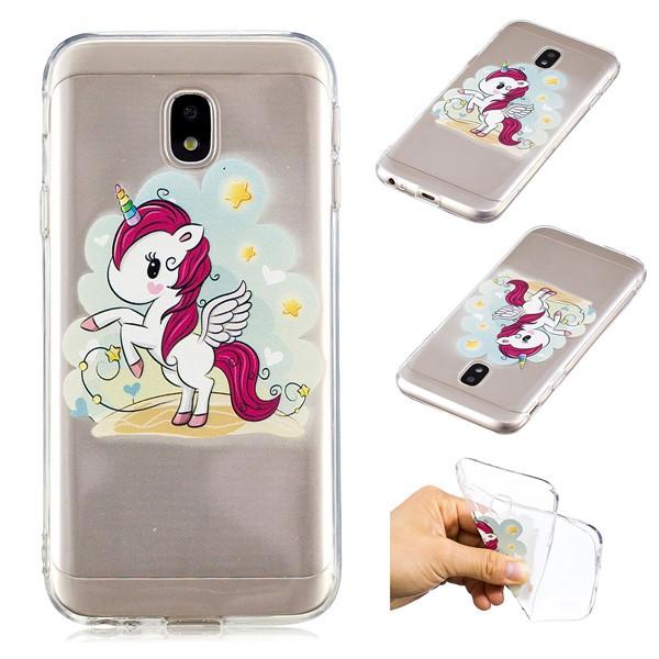 For Samsung Galaxy J3 Pro transparent cartoon soft case