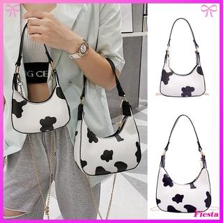 Túi đeo chéo họa tiết da bò xinh xắn hợp thời trang cho nữ