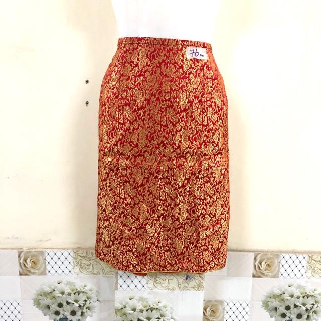 Thanh lý chân váy vải gấm hàng si tuyển ( mới 95%) eo 76cm