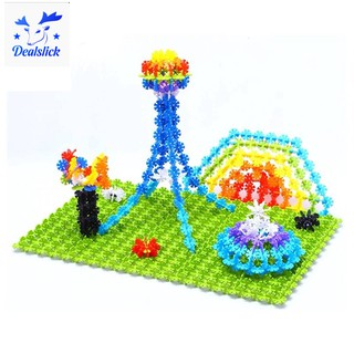 🌸100x Building Block Assembly construction game Toy Snowflake for Baby Child