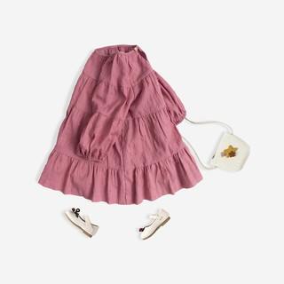 [Mã KIDMALL15 hoàn 15% xu đơn 150K] Váy Bé Gái Dài Tay Dài Tay Bello Land Màu Hồng