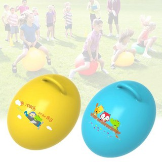 Egg-Shaped Ball Thickened Jumping Ball Egg Ball Child Handle Bouncing Ball Boy Girl Inflatable Toy