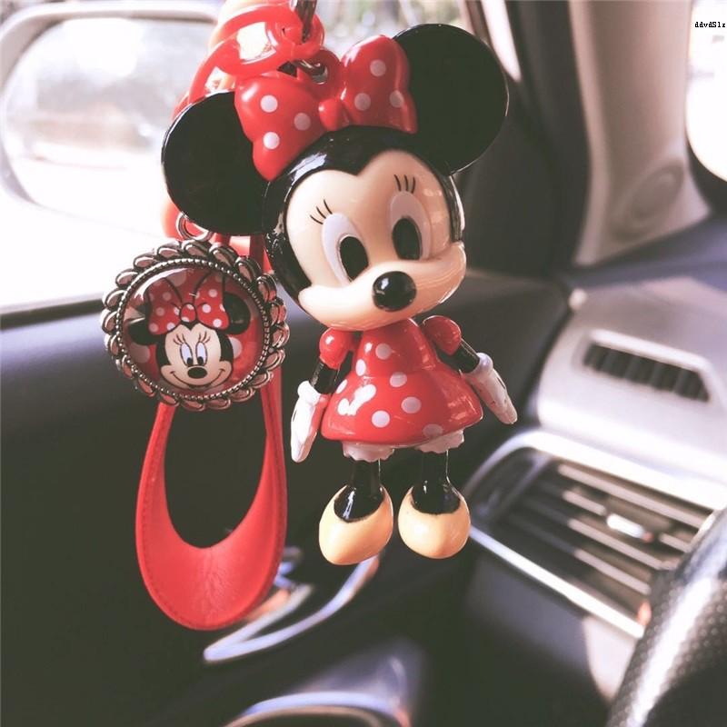 Áo Thun Ngắn Tay In Hình Chuột Mickey Có Móc Khóa Thời Trang Hàn Quốc