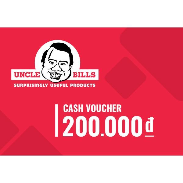 Hồ Chí Minh [Voucher] Phiếu quà tặng Uncle Bills 200k