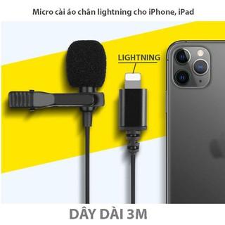 [Mã ELFLASH5 giảm 20K đơn 50K] Mic thu âm chuẩn lightning Apple cho iPhone 7,8,X, iPad