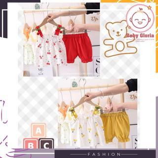 [HOT HOT| bộ thời trang cao cấp mùa hè cho bé gái - 1 đến 5 tuổi - cherry ngọt ngào- cỏ 4 cánh