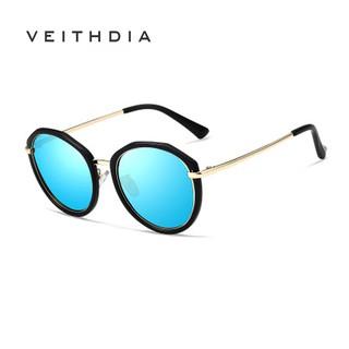Kính râm VEITHDIA V3050 chống tia cực tím gọng tròn phân cực cho nữ