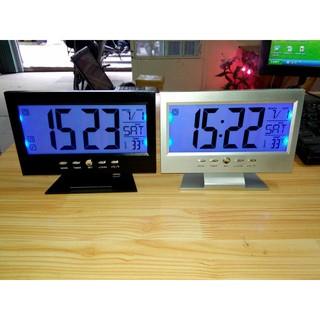 Đồng Hồ Báo Thức LCD LED DS8082 – Cảm Ứng Tiếng Động