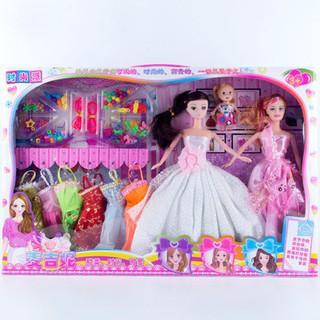 【Hot Sale】 Dressup Pretend Play Doll Educational Girl Toy Wedding Princess Doll