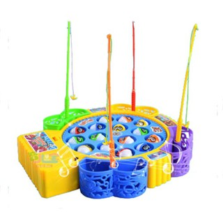 Kids Children Creative Rotating Fishing Music Game Developmental Toy