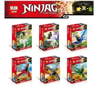 Đồ chơi lắp ráp lego ninjago và khủng long bay lepin 03037 trọn bộ 6 hộp như hình.