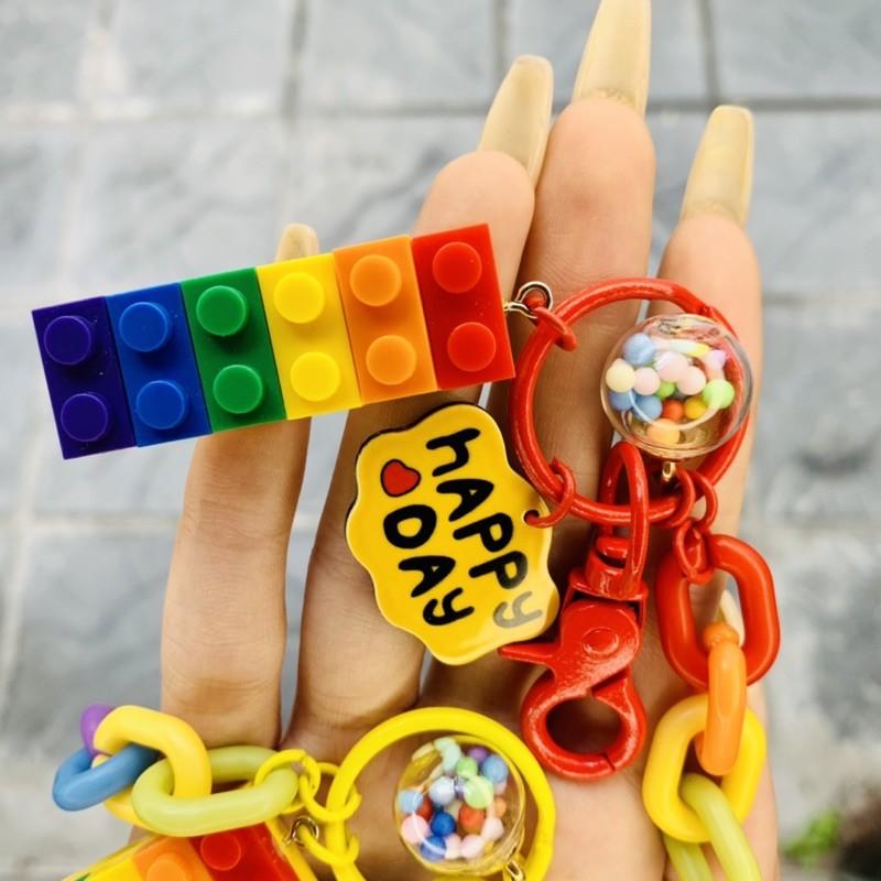 Móc khoá Lego cầu vồng - MK17