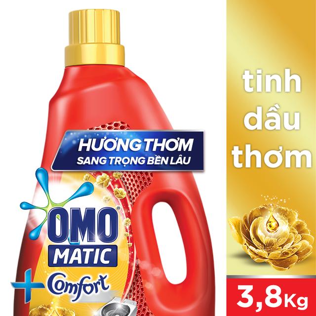 Nước giặt Omo Matic Cửa trên Tinh dầu thơm Comfort chai 3.8kg (MSP 67225245)