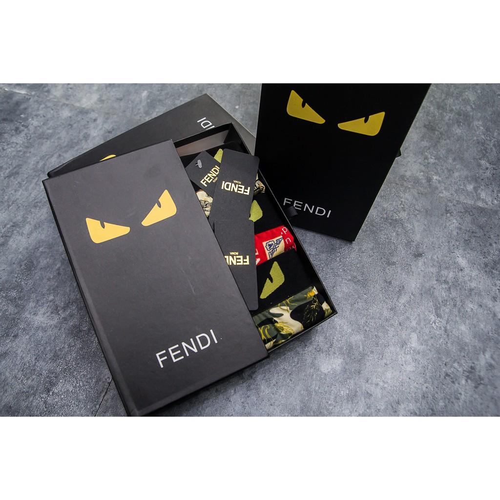 Combo - Hộp 3 sịp đùi boxer Fendi cao cấp