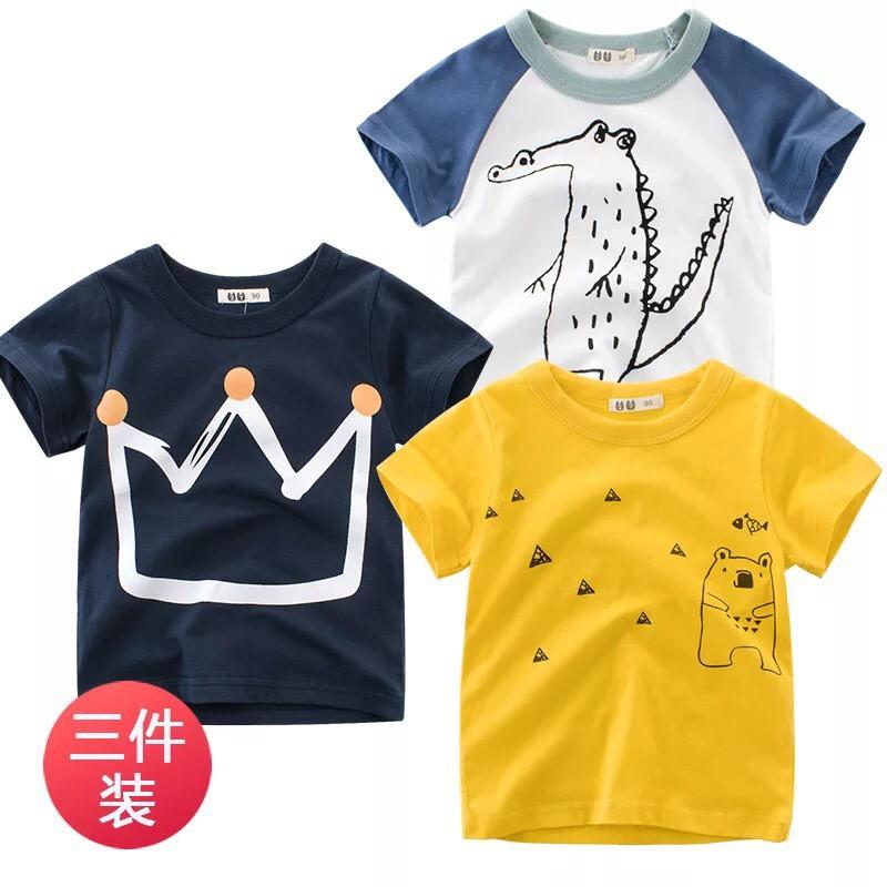 Áo phông 27kids bé trai (10-33kg) - Combo 3 áo