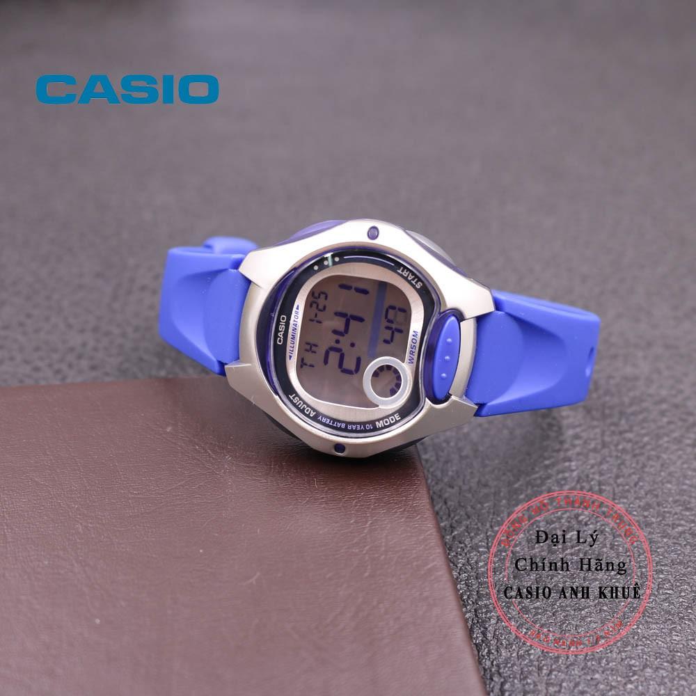 Đồng Hồ Nữ Casio LW-200-2AVDF Dây Nhựa Pin 10 Năm