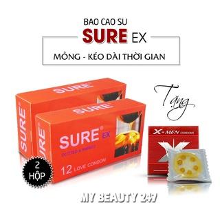 [HOT] Bao Cao Su SURE EX (Hộp 12C) -Dòng Bcs Gân Gai Kích Thích, Khiến Cuộc Yêu Thăng Hoa Dâng Trào Cảm Xúc - CHÍNH thumbnail