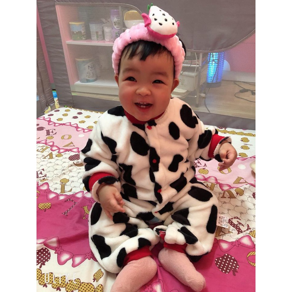 Áo liền quần Body nỉ băng lông cho bé Trai bé Gái Hàng Quảng Châu