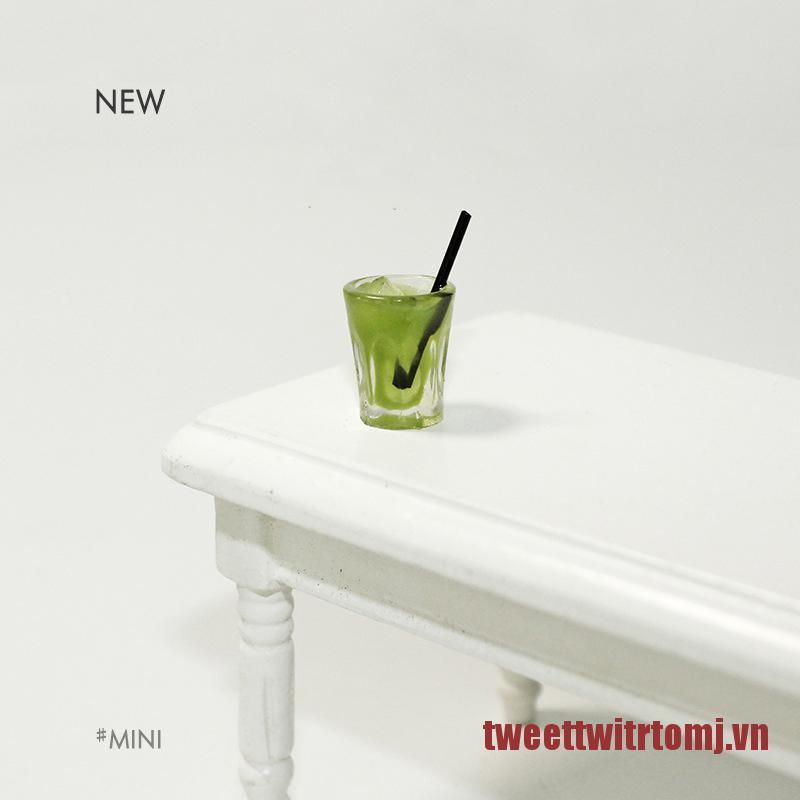 TOMJ Mini Japan Matcha Cup Drink 1:12 Dollhouse Minatures Model Dollhouse Accessorie