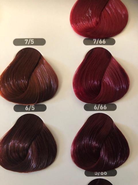 Nhuộm lavox chuyên nghiệp 3d nano collagen siêu dưỡng màu tím đỏ 6/66 tặng kèm oxy trợ nhuộm và bao tay