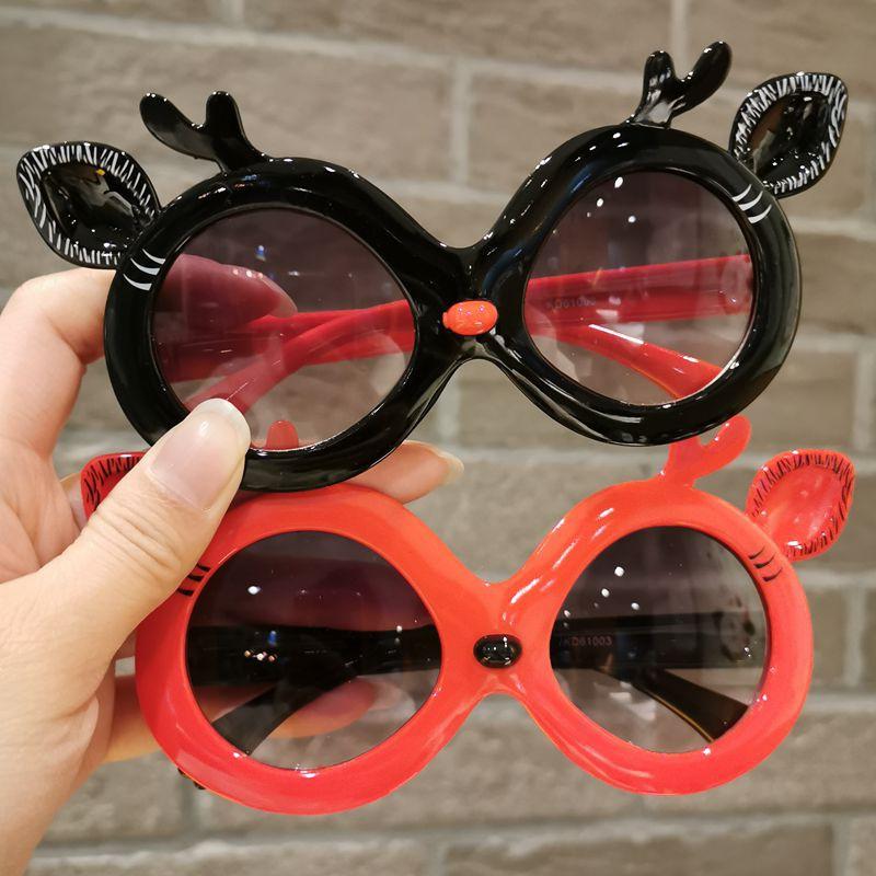 Children's Sunglasses Summer Girl Ink Glasses Cartoon Modeling Glasses Anti-Uv Baby Boys Sunshade