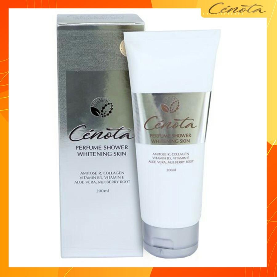 Sữa tắm trắng da hương nước hoa, sữa tắm trắng da Cenota Perfume Shower Whitening Skin 200ml mã CN11 Shizuka