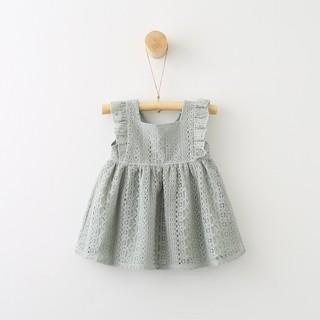 Váy bé gái dạo phố công chúa xinh xinh Đầm công chúa xanh T1234 TP0018