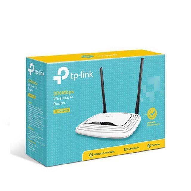 [Nhập ELCLMAY hoàn 30K xu đơn từ 200K]Bộ Phát Wifi TPLINK WR 841N 300Mbps Ver 14.0_ BH Chính Hãng 24 Tháng Giá chỉ 238.990₫