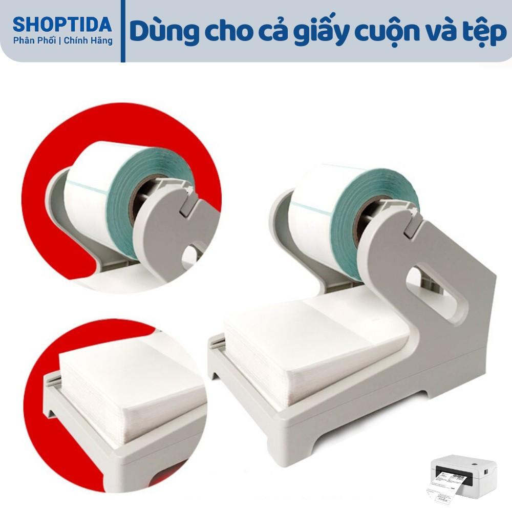 Khay đựng giấy in Shoptida cho máy in nhiệt SP46 các khổ dạng tệp và cuộn