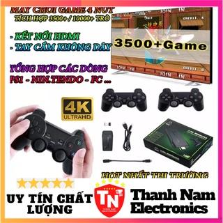 Máy chơi game cầm tay 4 nút HDMI 3500 trò chơi cổ điển PS1 Nitendo switch FC Compact FC ( ẢNH THẬT ) thumbnail