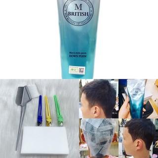 Kem ép side tóc chuyên nghiệp cho Nam BRITISH M Men's Style Down Perm (tặng kèm bát+chổi +giấy)