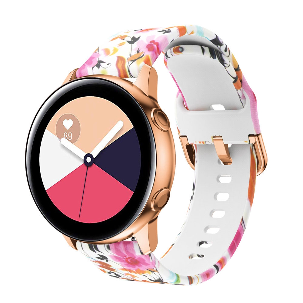 Vòng tay thể thao in họa tiết 3d cho đồng hồ thông minh samsung galaxy active 42mm