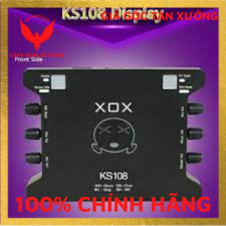 (Hàng có sẵn) Soundcard thu âm XOX K10 /KS108 hát livestream, hát karaoke online tặng kèm cáp kêt nối âm thanh.