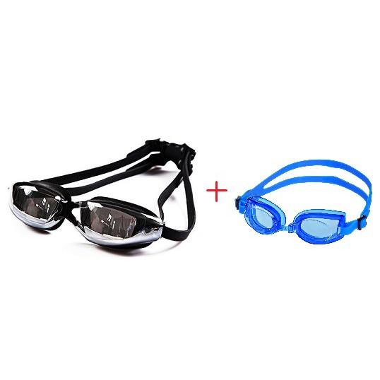 Kính Bơi Tráng Gương chống UV Kèm Kính Bơi Trẻ Em