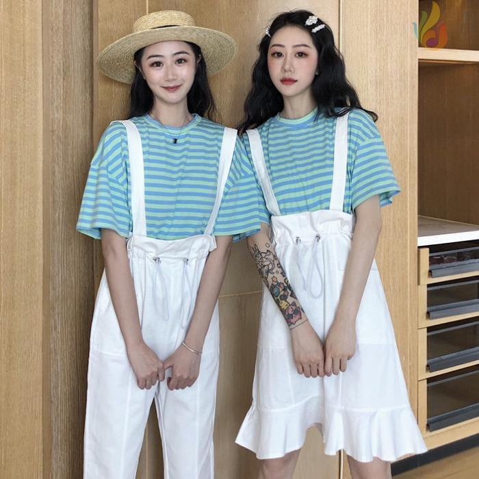 Áo thun sọc ngang/Quần yếm/Váy yếm dành cho phái nữ - 21697750 , 2164063790 , 322_2164063790 , 331200 , Ao-thun-soc-ngang-Quan-yem-Vay-yem-danh-cho-phai-nu-322_2164063790 , shopee.vn , Áo thun sọc ngang/Quần yếm/Váy yếm dành cho phái nữ