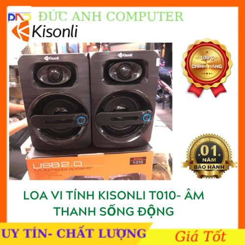 [Mã ELFLASH3 hoàn 10K xu đơn 20K] Loa vi tính 2.0 Kisonli T-010 âm thanh sôi động - Hãng phân phối