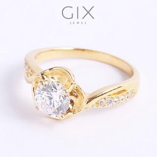 Nhẫn bạc nữ đẹp mạ vàng đóa hoa hồng gắn đá sáng đẹp Gix Jewel SPGN62 thumbnail