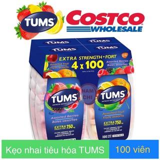 [ Date 2025 ] Kẹo nhai tiêu hóa TUMS chai 100 viên