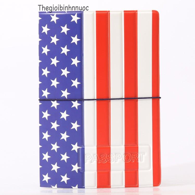 Vỏ Bọc Hộ Chiếu Passport Cover Cờ Mỹ V31