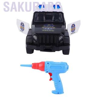 Sakurabc Assembling Car Toy DIY Kids Electric Drill Sound Lighting Disassemble and Assemble Puzzle Model Educat