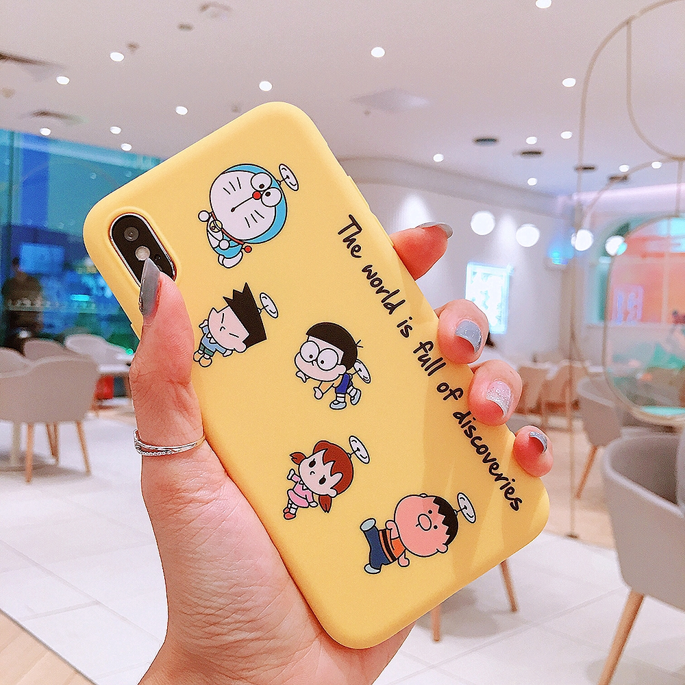 For IPhone 6 6s 7 8 Plus X XS XR XSMax Doraemon Silicone Soft Case