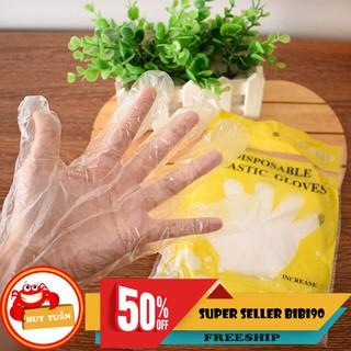[Mã HC0803 hoàn 10% xu đơn 150K] Set 50 đôi găng tay nilon dùng 1 lần trong nhà bếp (GTN50) thumbnail