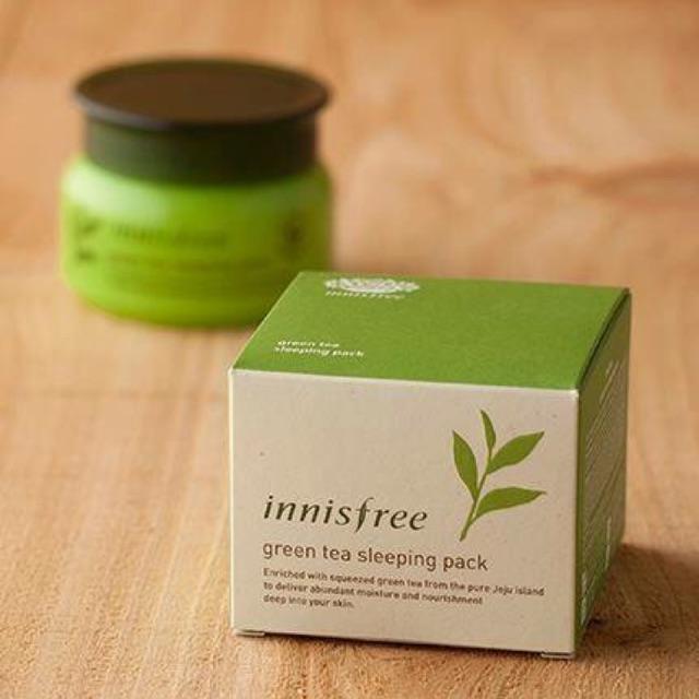 Kết quả hình ảnh cho Mặt Nạ Ngủ Trà Xanh Innisfree Green Tea Sleeping Mask 80ml