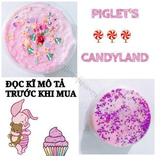 [Snowfizz] Slime 2 màu + charm heo Piglet – Piglet's candyland