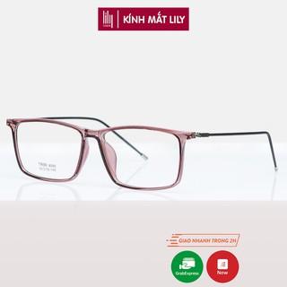 Gọng kính mảnh nam nữ Lilyeyewear nhựa dẻo, mắt vuông, nhiều màu - Y8095