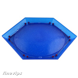 Blue Plastic Hexagonal Metal Fusion Stadium