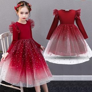 Đàm công chúa phong cách Giáng sinh đáng yêu hợp thời trang cho bé gái Children Girls New Years Clothing