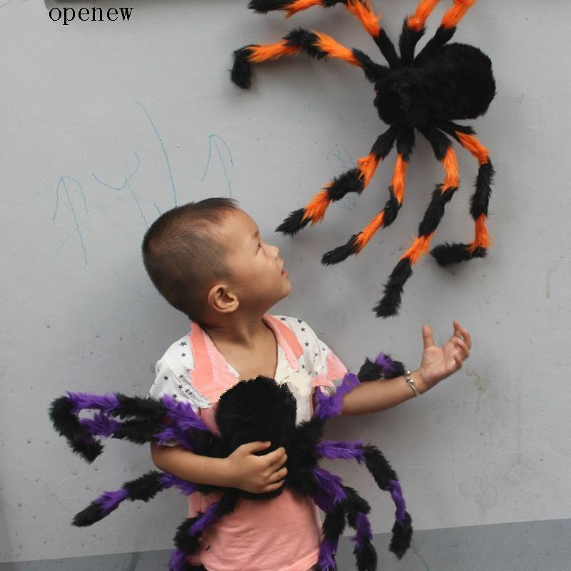 op Small Simulation Spider Toys Halloween Haunted House Prop Decor
