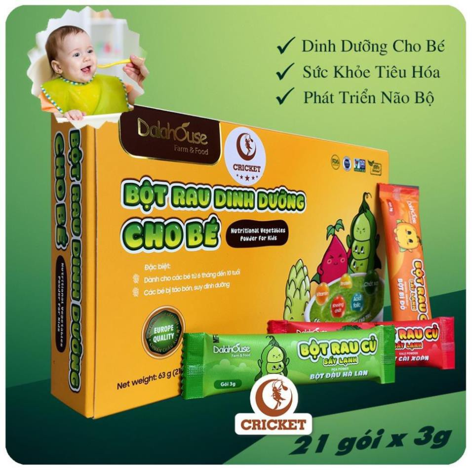 Bột Ăn Dặm Dinh Dưỡng Cho Bé Từ 6 Tháng Đến 10 Tuổi Với 7 Vị 63g (21 gói x 3g) thumbnail