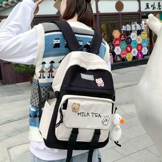 Balo ulzzang thời trang nam nữ Milk Tea  laptop đi học đi chơi nam Nữ unisex